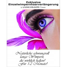 "A3 Poster for professional Eyelash Extention ""One by One"